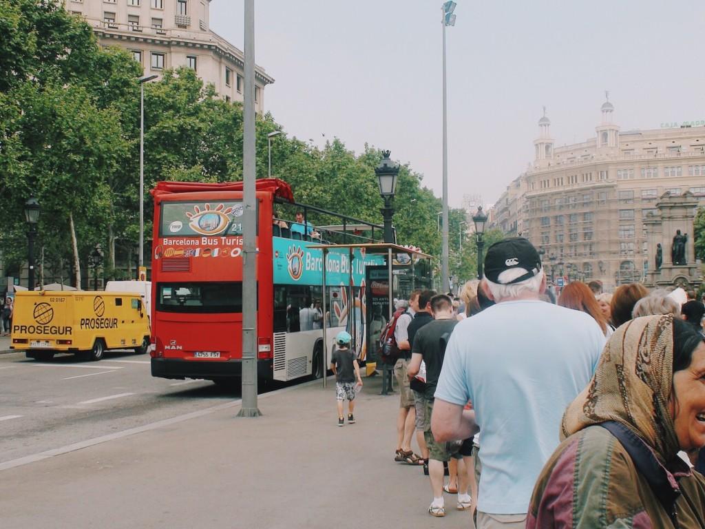 Barcelona Kırmızı Otobüs