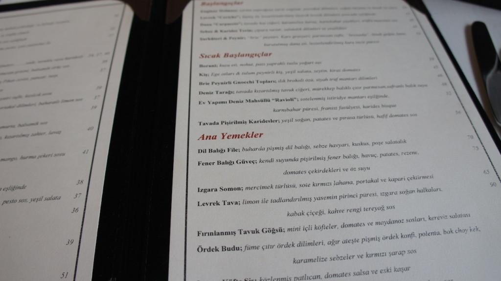 St.Regis Brasserie Menü